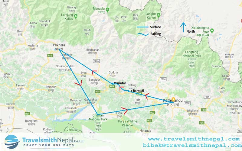 Best of Nepal Map